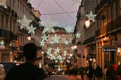 Lisbon Chiado Christmas lights
