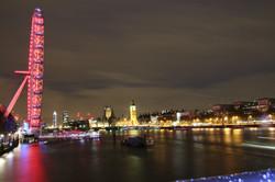 London at night-waterloo bridge UK