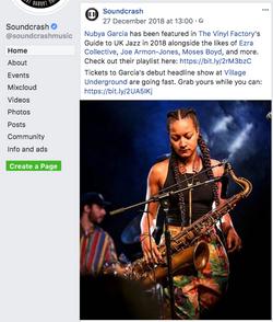 (c) Nubya Garcia photo at SoundCrash