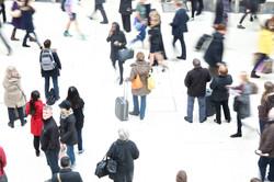 Waterloo station rush hour UK