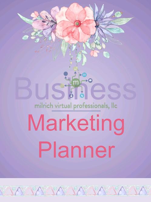 Pastel Business Marketing Planner
