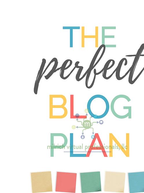Blog Plan