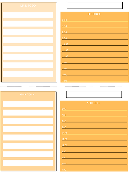 To do and Schedule- Orange
