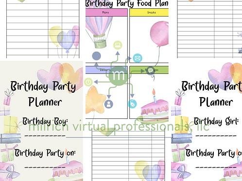 Delightful Birthday Planner