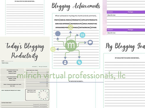 Blogging Productivity Journal