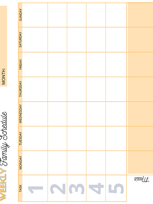Weekly FamilySchedule