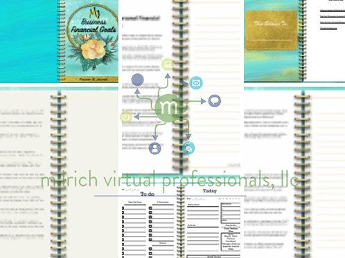 My Business Financial Goals Journal