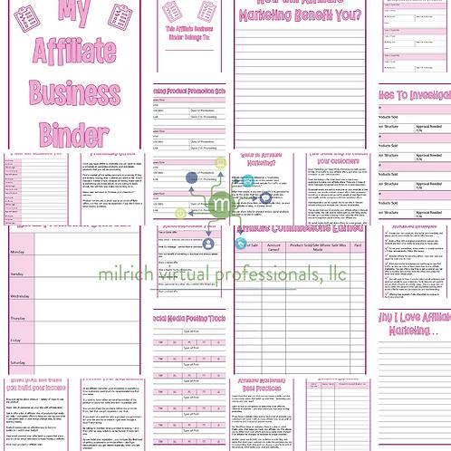 Affiliate Business Binder