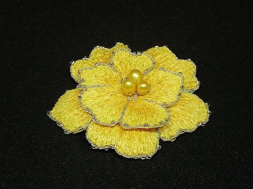 Bijou de cheveux fleur jaune