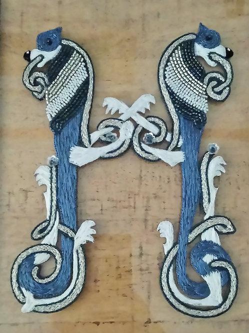 """""""H"""" façon enluminure celtique"""