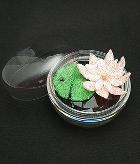 Nénuphar sous mini cloche en verre