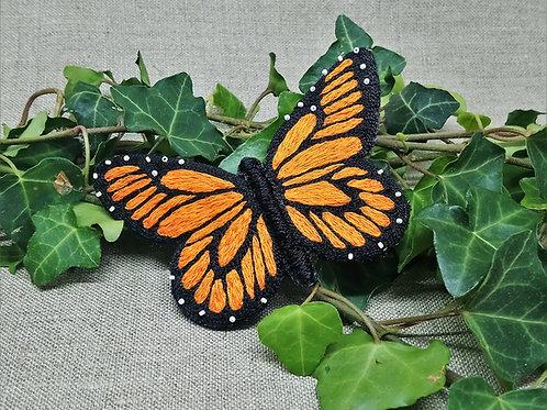 """Papillon """"Monarque"""" bijou de cheveux"""