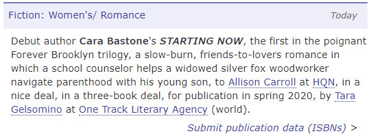 A Debut Deal for Cara Bastone
