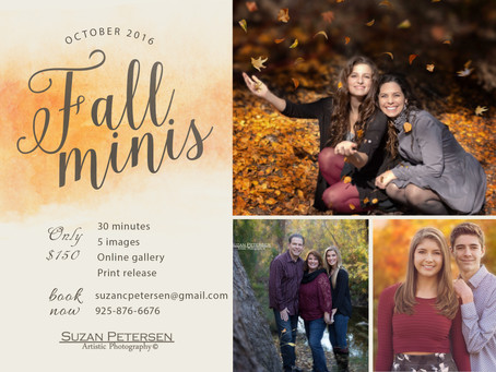 Fall Family Sessions Now Booking