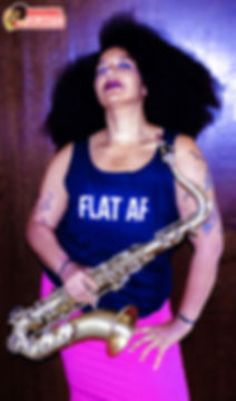 female saxophone player