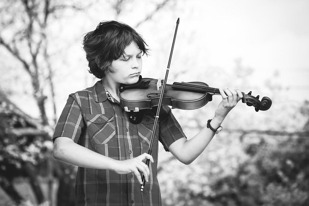 Wylie | Songbird Rising violin student, Austin