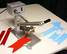 ribbon hot knife, V cutter, bowmaking, cheerbow