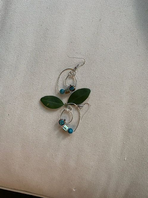 Apatite & shell earrings