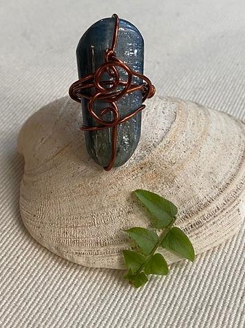 Kyanite wrapped ring