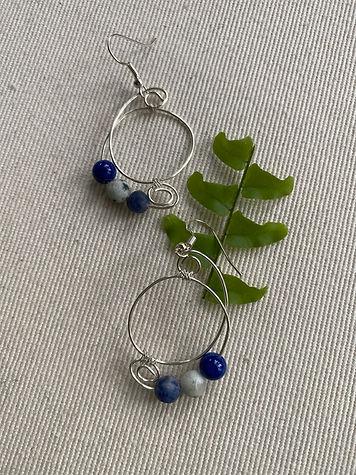 Blue sea earrings