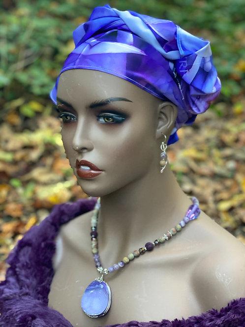 Purple magic set - necklace & earrings