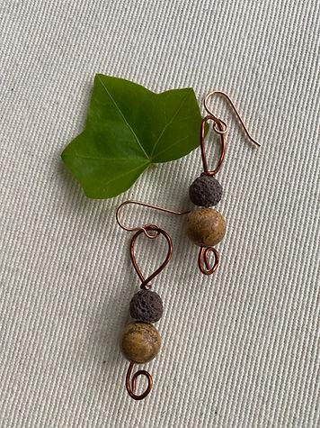 Jasper & Lava bead in brown