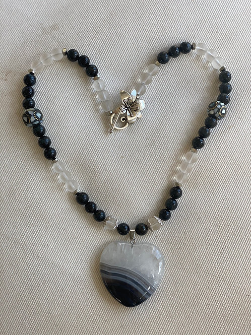 Blue agate heart