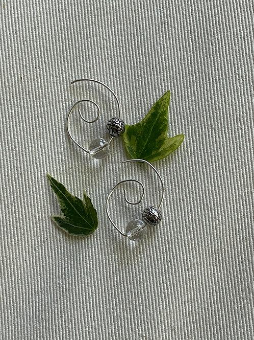 Sterling Silver earrings w/quartz