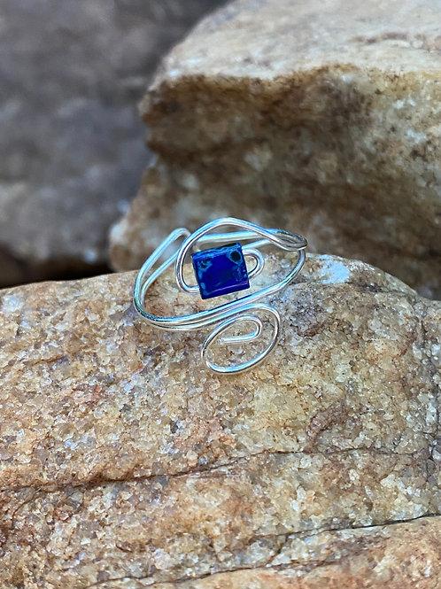 Blue tila toe ring