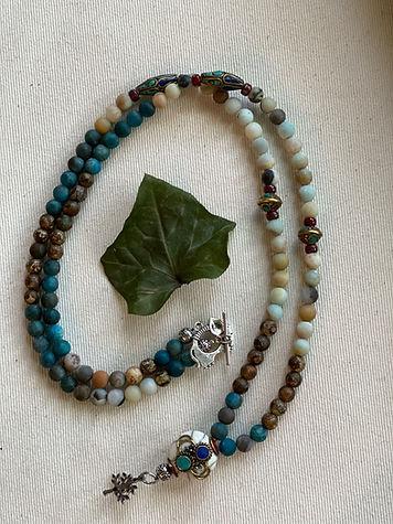 Amazonite/Apatite/Agate necklace