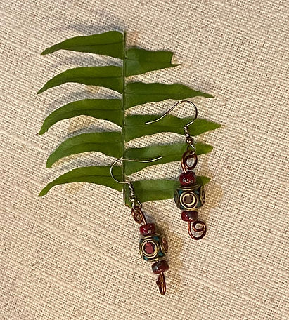 Tibetan reds earrings