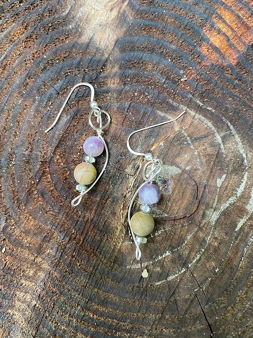 Amethyst & Jasper earrings