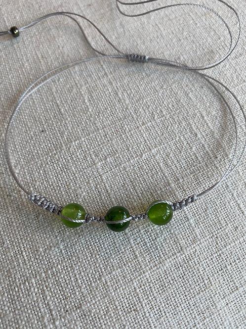 Jade anklet