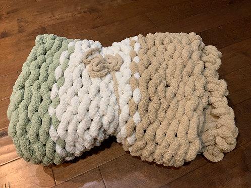 Small Sage/Tan- Chunky Blanket