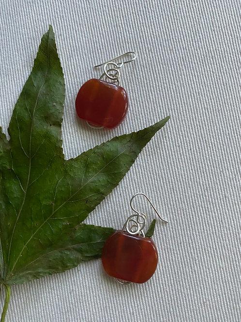 Carnelian stone earrings