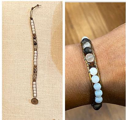 Single wrap amazonite bracelet