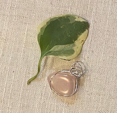 Rose quartz (triangle) pendant