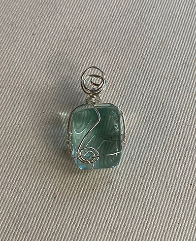 Blue Obsidian pendant
