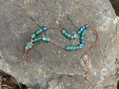 Tibetan blue ocean necklace