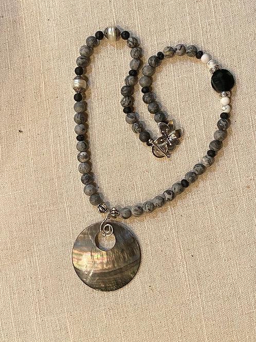 Shades of Grey Jasper necklace