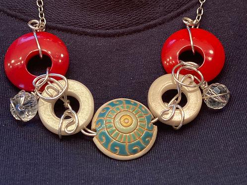 Fiber beads w/quartz jewels