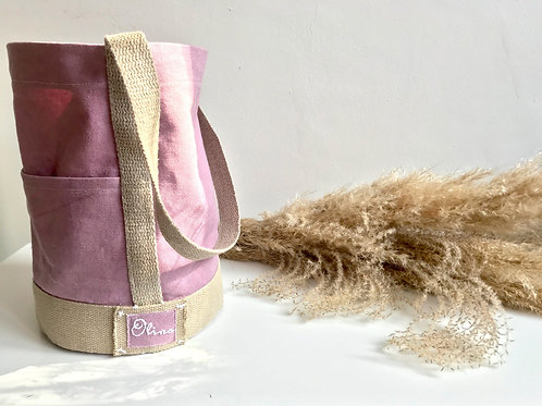 Hemp Canvas Round Tote Bag