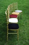 Auksinės Chiavari kėdės