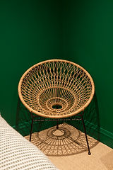 round whicker chair