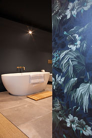 bathroom. silk wallpaper
