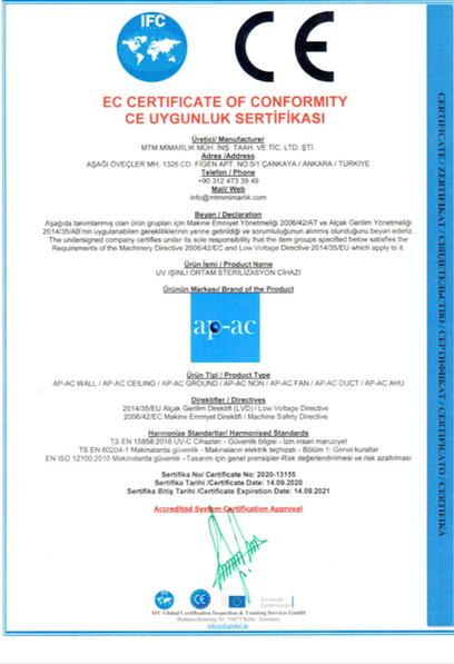 CE Uygunluk Sertifikasi