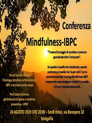 Locandina Conferenza Mindfulness 24 agos