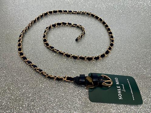 Wildledergürtel Chain | navy & gold