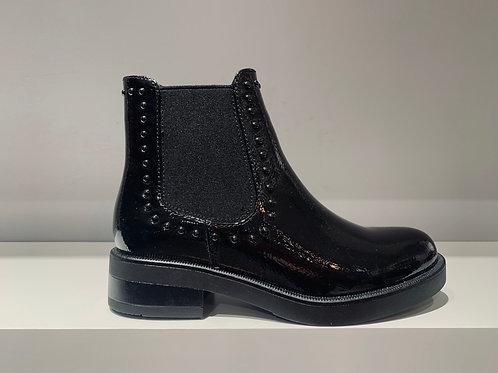 Café NOIR Chelsea Boots Black Varnish