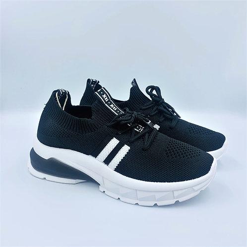 Vegan Sneaker   black & white